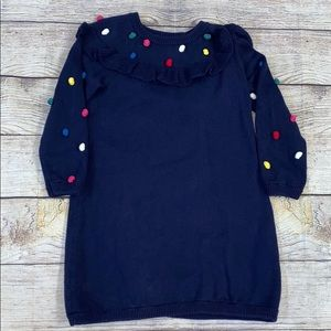 Hanna Andersson Pom Pom Sweater Dress Size 4